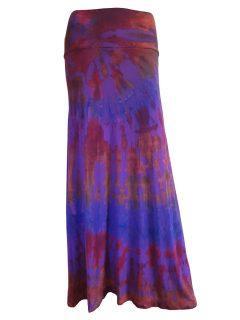 Tie dye long skirt- Purple