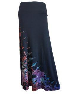 Tie dye skirt- Black half tie dye