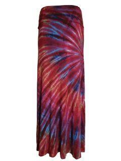Tie dye skirt- Crimson