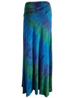 Tie dye skirt- Teal