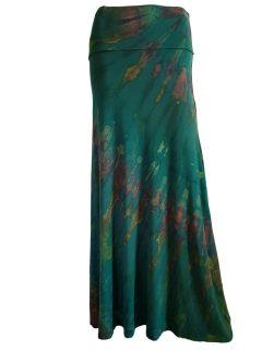 Tie dye skirt- Forest Green