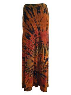 Tie dye skirt- Black and Orange