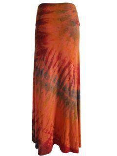 Tie dye skirt- Orange