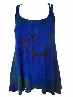 Cross over strap top – Royal Blue