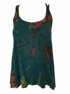 Cross over strap top – Forest Green