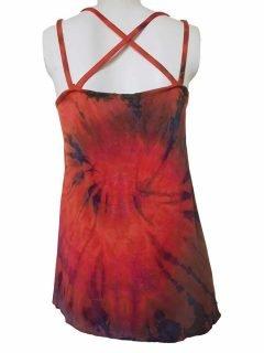 Cross over strap top – Orange