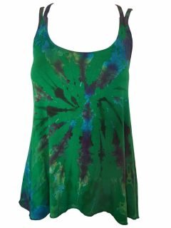 Cross over strap top – Emerald Green