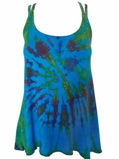 Cross over strap top – Turquoise