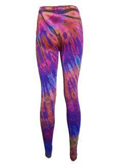 Tie dye leggings: Purple