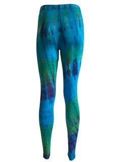 Tie dye leggings: Turqoise