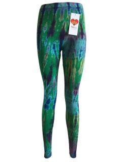 Tie dye leggings: Emerald Green
