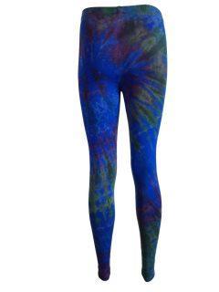 Tie dye leggings: Royal Blue