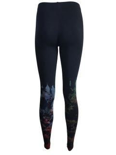 Tie dye leggings: Black half leg