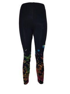 Tie dye 3/4 length leggings: Half tie dye