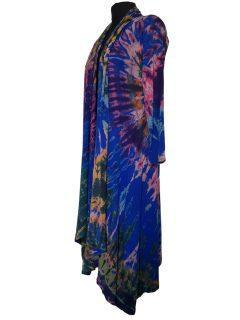 Long Tie dye Cardigan- Royal Blue