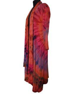 Long Tie dye Cardigan- Orange