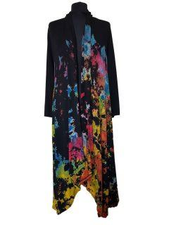 Long Tie dye Cardigan- Half Multi