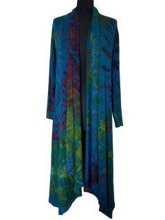 Long Tie dye Cardigan- Teal