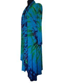 Long Tie dye Cardigan- Turquoise
