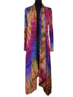 Long Tie dye Cardigan- Purple