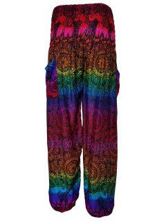 Ali baba trousers: Mandala – Rainbow