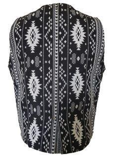 Waistcoat – Black and White Geometric