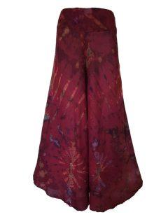 Tie Dye Palazzo Trousers- Red