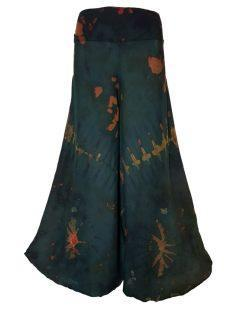 Tie Dye Palazzo Trousers- Green