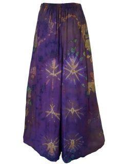 Tie Dye Palazzo Trousers- Purple