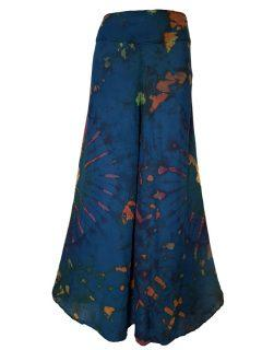 Tie Dye Palazzo Trousers- Teal