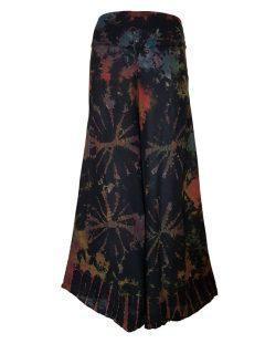 Tie Dye Palazzo Trousers- Black