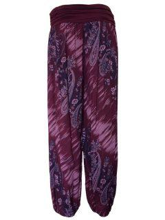 Printed Ali baba trousers – Maroon