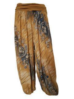 Printed Ali baba trousers – Mustard Yellow