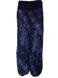 Printed Ali baba trousers – Navy