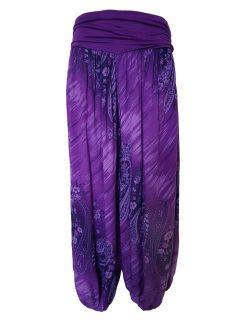 Printed Ali baba trousers – Purple