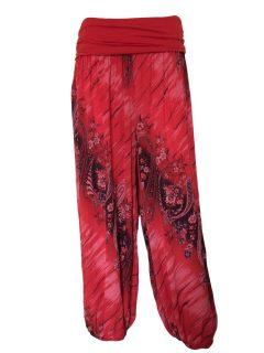 Printed Ali baba trousers – Red