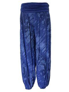 Printed Ali baba trousers – Royal Blue