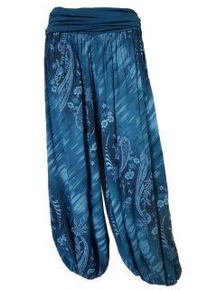Printed Ali baba trousers – Teal