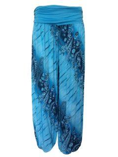 Printed Ali baba trousers – Turquoise