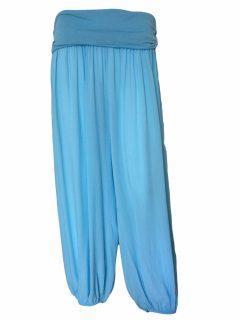 Plain Ali baba trousers – Turquoise