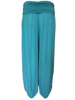 Plain Ali baba trousers – Teal