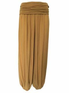 Plain Ali baba trousers – Mustard yellow