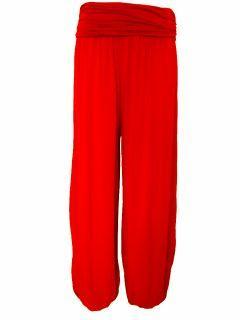 Italian Ali baba trousers -Red