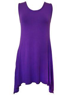 Plain sleeveless tunic – Purple