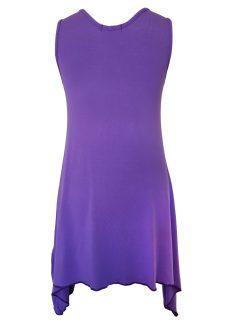 Plain sleeveless tunic – Lilac