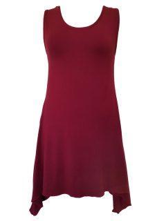 Plain sleeveless tunic – Maroon