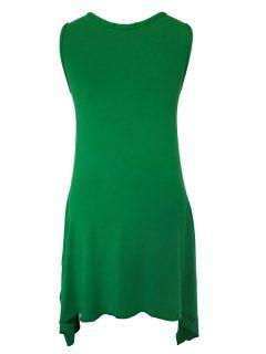 Plain sleeveless tunic – Emerald Green