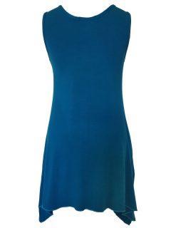 Plain sleeveless tunic – Teal