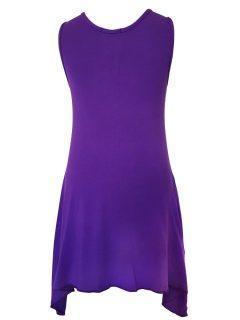 Plain sleeveless tunic – Purple