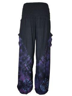 Tie Dye Ali baba trousers – Black